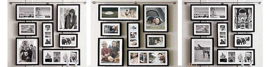 Different style collage frames with matting