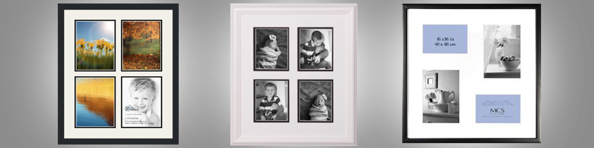 Modern style collage frames with matting