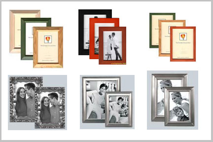 wood and metal picture frames