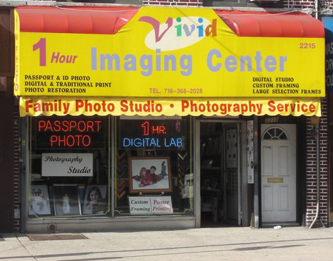 Vivid Photo store front for passport photo